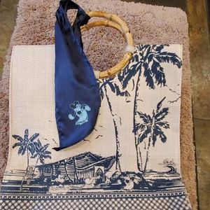 Disney Hawaiian themed hand bag NWOT